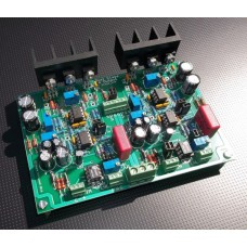 Dual Class-A II Reference Headphone and Line Amp, Assembled and Tested PC Board