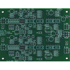 Flat Moving Coil Phono Preamp With Balanced Input and Balanced Output, Bare PC Board and ICs