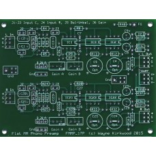 Flat Moving Magnet Phono Preamp With Balanced Input and Balanced Output, Bare PC Board