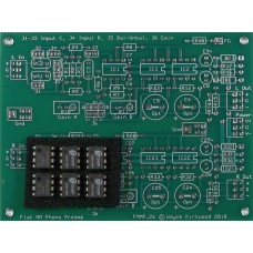 Flat Phono Preamp With Balanced Input and Balanced Output, Bare PC Board and ICs