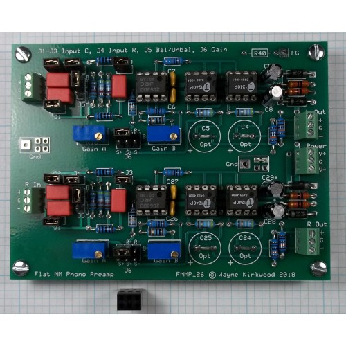Phono Transfer System Assembled and Tested Flat Preamp PC Boards