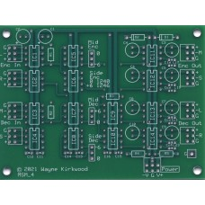Mid Side Mini -  Simple MS Mid-Side Encoder Decoder Matrix for Mastering, Bare PC Board