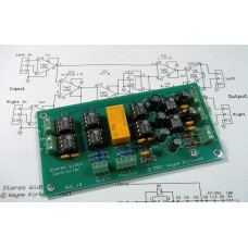 Stereo Width Controller for Mastering and Transfer, Assembled and Tested PC Board